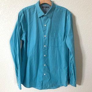Van Heusen Studio Slim Fit Turquoise Dress Shirt